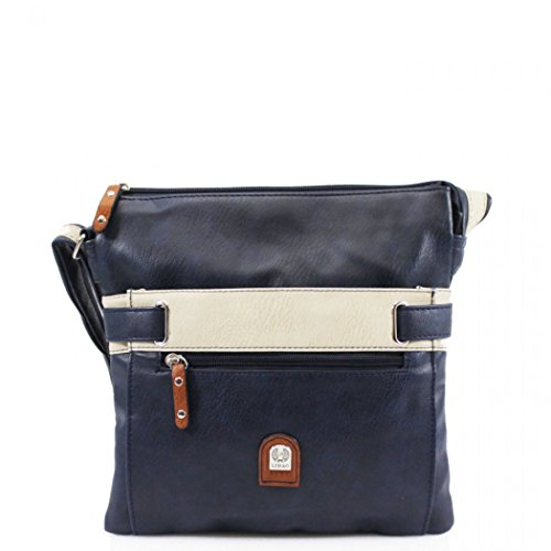 Bag 2 Large For Handbags Body Women's Her Holiday Bags Navy Compartments Shoulder Cross LeahWard 1723 n8BqRZx