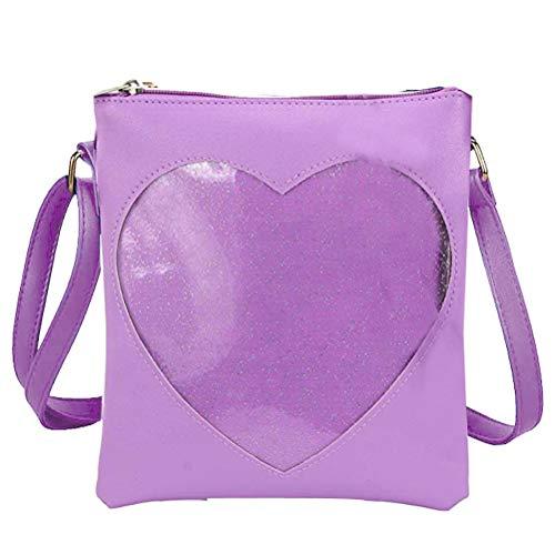 Donalworld Women PVC Clear Bag Summer Beach Jelly Purple Handbag