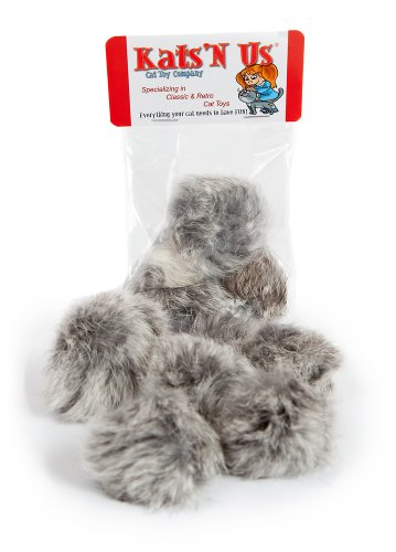 Real Rabbit Fur Pom Cat product image