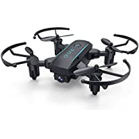 KXN Mini Pocket RC Drone with 0.3MP Camera , FPV 2.4Ghz 6-Axis Gyro Headless Mode One Key Return Quadcopte good choice for Beginners (Black)