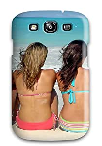 First-class Case Cover For Galaxy S3 Dual Protection Cover Girls On The Beach