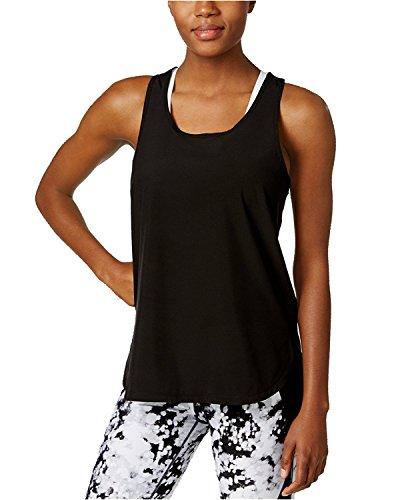 Calvin Klein Performance Women's High Low Scoop Neck Tank Top (X-Large, Black)