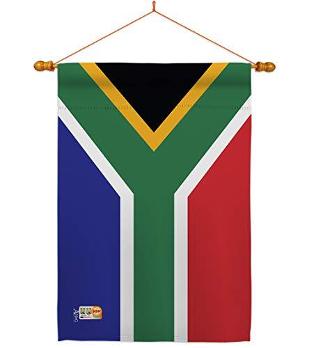 Americana Home & Garden HS140218-BO-03 South Africa World Nationality Decorative Vertical House Flag Set, 28