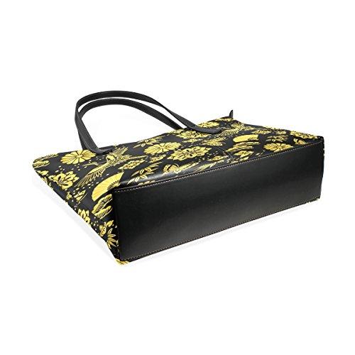 COOSUN Golden Powder und japanische Kräne PU Leder Schultertasche Handtasche und Handtaschen Tasche für Frauen