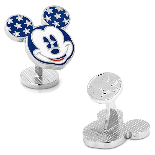 Disney Vintage Stars and Stripes Mickey Mouse Cufflinks, Officially Licensed