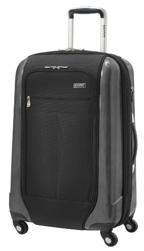 Ricardo Beverly Hills Luggage Crystal City 24 Inch Expandable Spinner Upright Suitcase, Black, Large ()