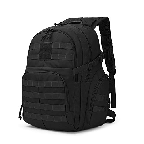 BAIGIO Tactical Military Backpack 40L Gear Sport Outdoor Assault Pack Rucksack Bag for Hunting Camping Trekking Travel (Black)