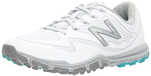 New Balance Women's Minimus Sport Golf Shoe, White, 9 B B US