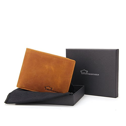 Wardeindesign Men's Leather Wallet Bifold RFID Designer engraved - and leather key fob by Wardeindesign (Image #7)