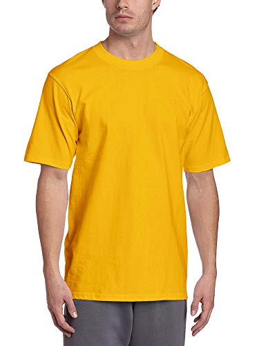 Hat and Beyond Mens Super Max T Shirt Heavyweight Solid Short Sleeve Tee S-5XL (1ks06_Gold/5X-Large)