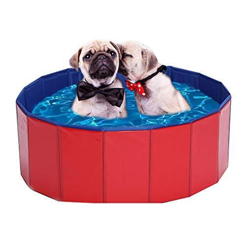 b0e5d72033ac DYYTR Pet Tub Bathtub,Portable Foldable Dogs Cats Bathing,Foldable Pet Dogs  Cats Paddling Pool Puppy Swimming Available in Three Sizes(Red),8030