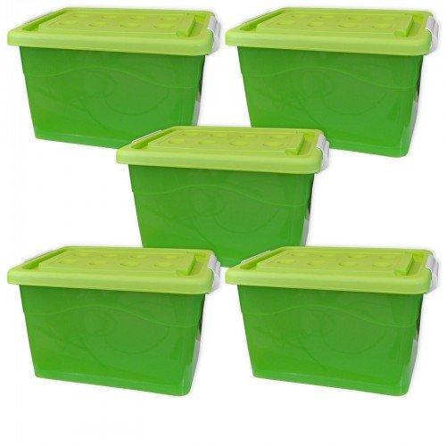 Coffre 5 Pièces Caisse De Rangement Plastique Avec Couvercle Et