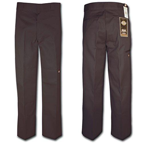 Dickies 85-283 Double Knee Work Pant Dark Brown 34W x 30L by Dickies
