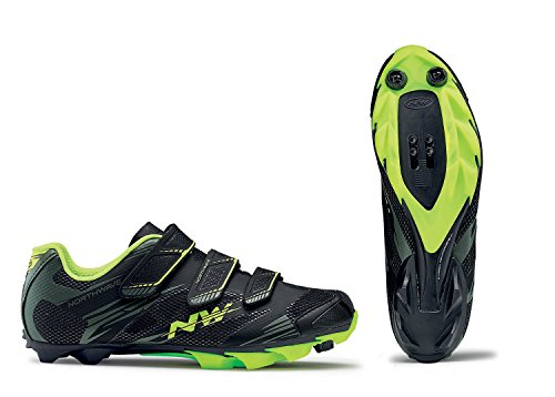 Northwave Man MTB XC shoes SCORPIUS 2 black/military/yellow fluo from Northwave