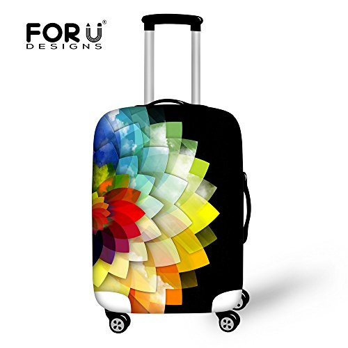 FOR U DESIGNS 18/20/24/28 Inch Creative Color Printed Luggage Cover Spandex Travel Suitcase Protective Cover