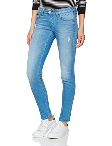 Low Sophie Cruz Jeans Tommy Destructed Scstd Femme Stretch Bleu Rise Slim Skinny santa qvEXv