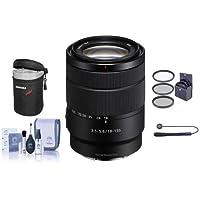 Sony 18-135mm f/3.5-6.3 OSS E-Mount NEX Camera Lens - Bundle With 55mm Filter Kit, Lens Case, Cleaning Kit, Capleash II
