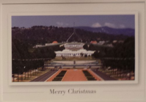 "Greeting Card Christmas Australian ""Season's Greeting - Parliament House"" Merry Christmas and Happy New Year"