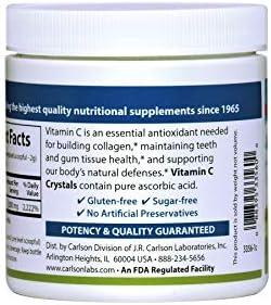 Carlson - Vitamin C Crystals, Non-GMO, Supports Healthy Immune System Function, Vitamin C Powder, 170 Grams