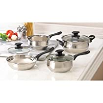 Home Kitchen Cookware Set Induction Specialty Best Skillet Pot Sauce Pan W/ Lid Stainless Steel Healthy Cast Iron Restaurant Cookware Aluminum Craft