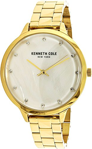 Kenneth Cole New York Women's 'Classic' Quartz Stainless Steel Dress Watch, Color:Gold-Toned (Model: KC15056006)