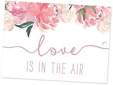 Ballonflugkarten zur Hochzeit 30 Stück C6 rosa 180502 extra leichte Flugkarten für weite Flüge, gelocht, wetterfest