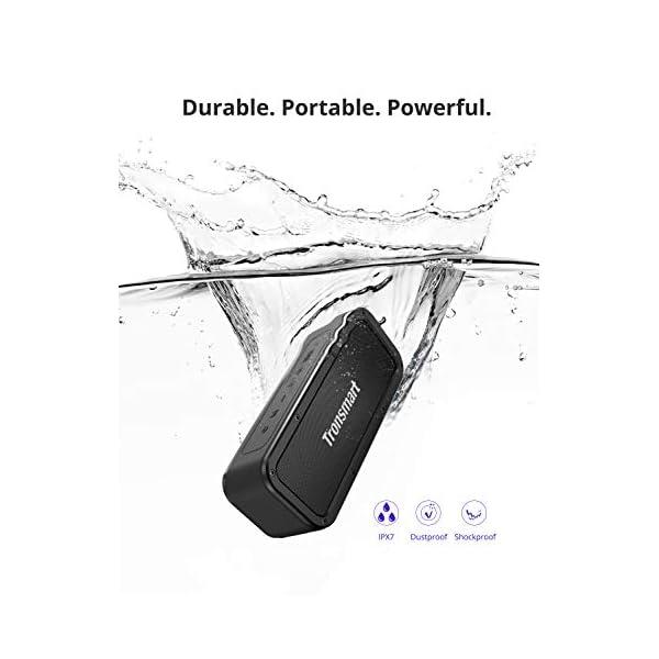 Haut-Parleur Bluetooth Enceinte sans Fil 40W, Tronsmart Force Speaker Waterproof Portable, étanche IPX7, Autonomie 15H, Technologie NFC & TWS,Compatibilité Android, Smartphone,Ordinateur 3