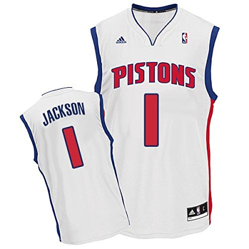 adidas Reggie Jackson Detroit Pistons White Home Replica Youth Jersey (Large 14/16)