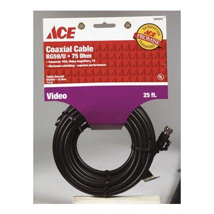 CABLE COAX RG59 25 BLK