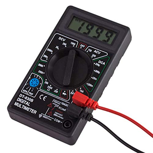 Gloryelenxs LCD Digital DT-830B Multimeter Handheld Voltmeter Ohmmeter Ammeter AC DC Voltage Checker OHM DC Circuit Tester