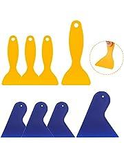 8 stuks kunststof spatels 3D-print spatel kunststof mes, auto spatel luchtbellenverwijderaar sticker installatie gereedschap verf schraper schilderspatel spatel set voor verpakking en patches