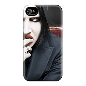 Waterdrop Snap-on Music Marilyn Manson Case For Iphone 4/4s