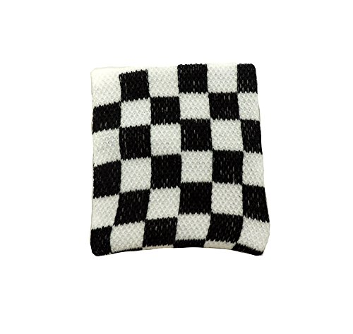Checkered Flag Racing Terrycloth Wristband ()