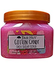 Tree Hut Cotton Candy Shea Sugar Scrub 18 Oz! Formulated With Real Sugar, Certified Shea Butter And Strawberry Extract! Exfoliating Body Scrub That Leaves Skin Feeling Soft & Smooth!