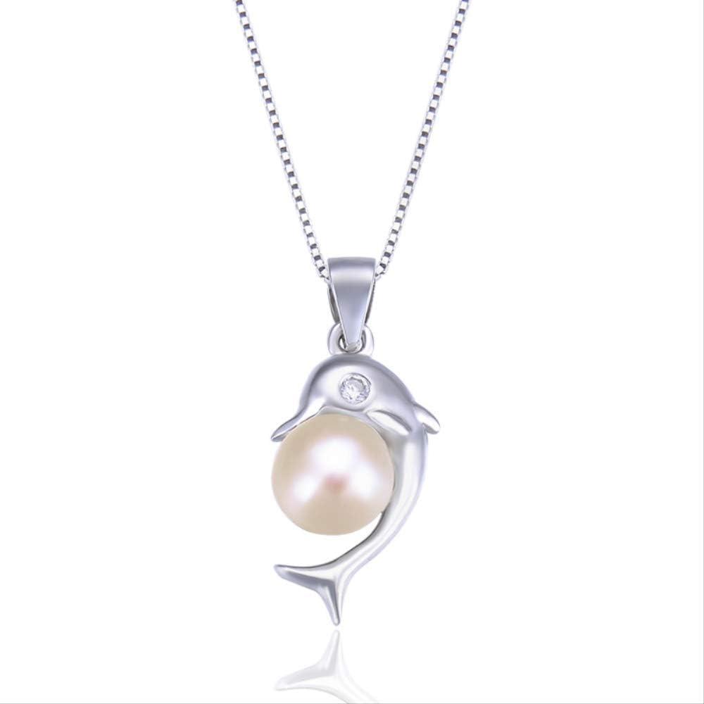 yunkuo Versión Japonesa Y Coreana De Los Pequeños Accesorios Colgantes Frescos Simples S925 Collar De Perlas De Plata De Ley De Las Mujeres Cadena De La Cadena De Moda Joyería