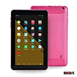 Haehne 9 Inch Tablet PC, Google Android 6.0 Quad Core,800480 Screen, 1.3GHz, Dual Cameras, 1GB RAM 16GB ROM, 3000mAh,Bluetooth, WiFi, Pink