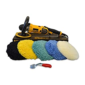 Detail King DeWalt DWP849X Rotary Buffer Edge Wool Pad Value Package