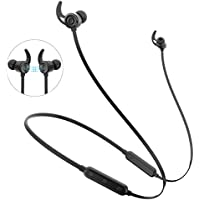 Bluetooth Headphones, Firstop Best Wireless 4.1 Magnetic Earbuds aptX Stereo Earphones - IPX5 Sweatproof Headphones for Running | Workout Neckband Headset with Noise Canceling Mic & CSR8645 Chip