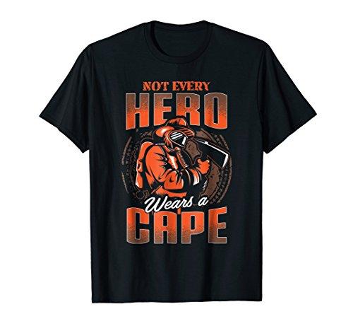 Proud Firefighter TShirt Fireman Hero Shirt Gift Idea