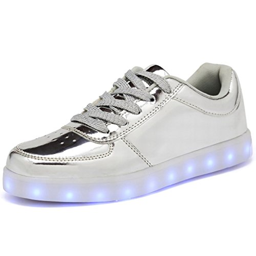 Light Shoes (CIOR Mens Womens Boys Girls 11 Colors Led Sneakers Light Up Flashing Shoes,101A,08,36)