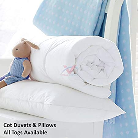 Cot Bed Pillow Hollowfibre Pillows Anti Allergy Nursery Baby Toddler Junior New