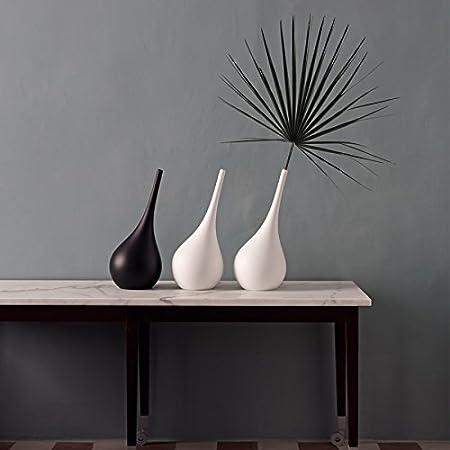 Vasi Per Arredamento Moderno.Myyuor Vaso A Forma Di Ampolla Dal Design Moderno Complemento D Arredo Per La Casa Nero Amazon It Casa E Cucina