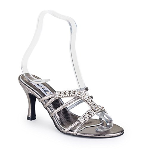 FARFALLA - Sandalias de vestir de Satén para mujer Gris - gris
