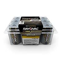 Baterías Rayovac D, baterías alcalinas D Pro Pro (12 baterías)