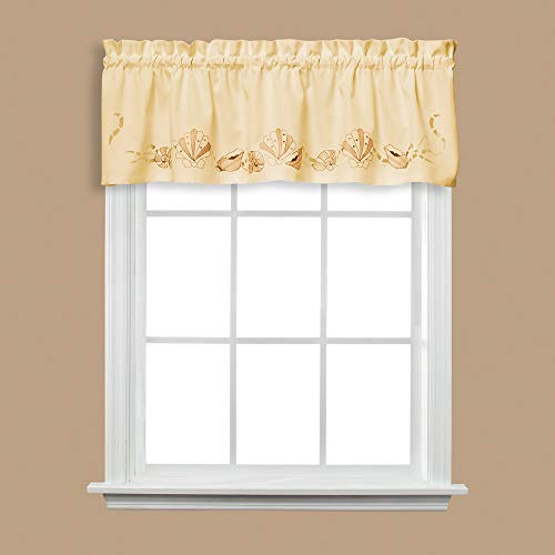 Breeze Window Valance - SKL Home by Saturday Knight Ltd. Seabreeze Valance, Sand, 57 inches x 13 inches