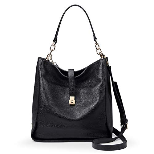 Genuine Leather Shoulder Handbags for Women【Full-grain Cowhide】Supple Top-handle Bags Soft Hobo Bags Satchels