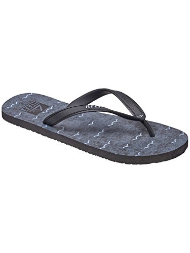 Reef Switchfoot Prints, Sandalias Flip-Flop para Hombre black/waves