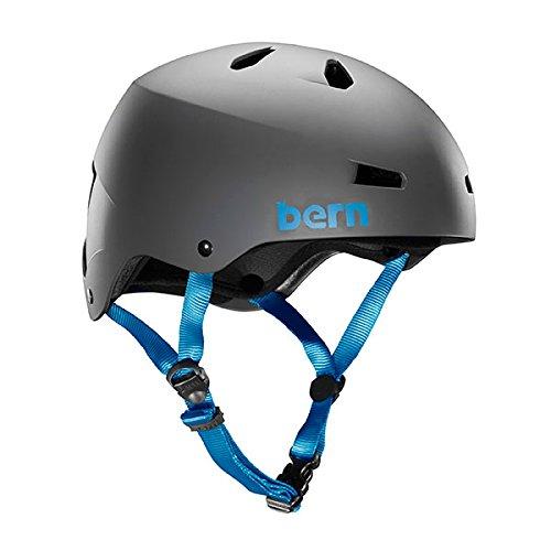 Bern 2016 Macon EPS Summer Matte Grey - (Macon Skate Helmet)