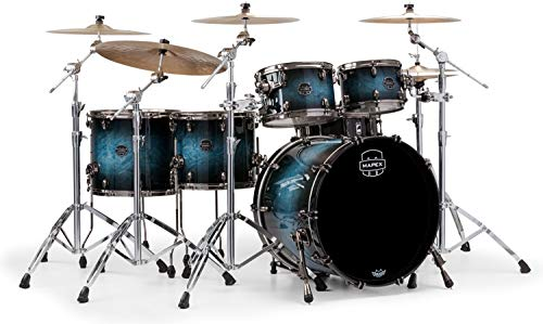 (Mapex Saturn V MH Exotic 5-piece Shell Pack - Deep Water Maple Burl)