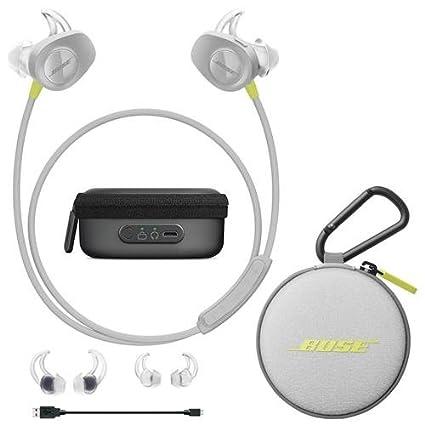 bose earphones wireless. bose soundsport wireless headphones citron - bundle with charging case for earphones p